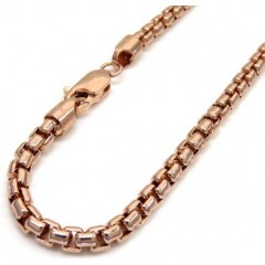 10k Rose Gold Hollow Box Link Chain 24-30 Inch 3.5mm