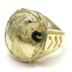 10k Yellow Gold Arrow Large World Ring