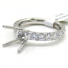 18k White Gold Round Diamond Semi Mount Ring 1.08ct