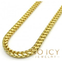 14k Solid Yellow Gold Franco Chain 30 Inches 2.5mm