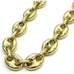 14k Yellow Gold Gucci Puff Link Chain 24-26 Inches 11.50mm