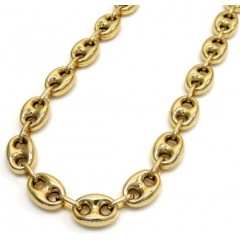 14k Yellow Gold Gucci Puff Link Chain 20-26 Inches 8.00mm