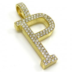 10k Yellow Gold Diamond Custom Made Initial Pendant 0.50ct