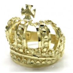 10k Yellow Gold Nugget Kings Crown Ring