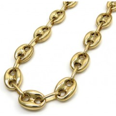 10k Yellow Gold Hollow Gucci Link Chain 30 Inch 8.00mm