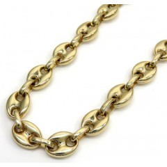 14k Yellow Gold Gucci Puff Link Chain 24 Inches 8.00mm