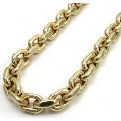 10k Yellow Gold Hollow Cable Link Chain 20-26 Inch 6mm