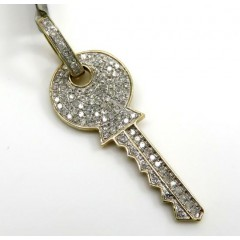 10k Yellow Gold Diamond Key Pendant 0.57ct