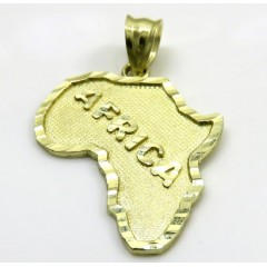 10k Yellow Gold Small Africa Pendant