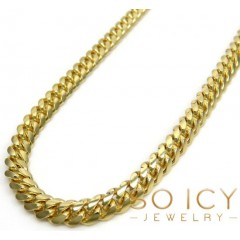 14k Yellow Gold Solid Miami Link Chain 24 Inch 4.20mm