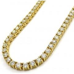 14k Gold Round 20 Pointer Diamond Tennis Chain 20-24 Inches 4mm 24.00ct