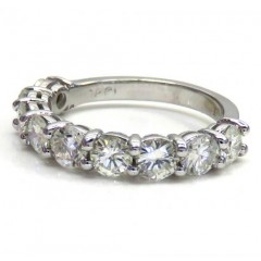 14k White Gold 22 Pointer Half Vs Diamond Eternity Band 2.00ct