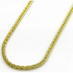 10k Yellow Gold Super Skinny Solid Wheat Franco Chain 20-24 Inch 1.20mm