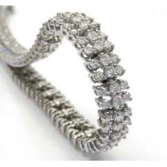 14k White Gold 3 Row Diam...