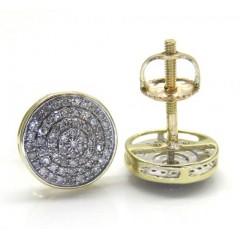 10k Yellow Gold Diamond Snow Cap Earrings 0.29ct