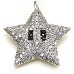 10k Yellow Gold Small Diamond Mario Star Pendant 0.34ct