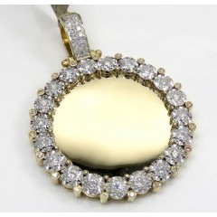 10k Yellow Gold Large Diamond Picture Pendant 0.67ct