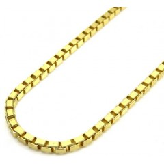 10k Yellow Gold Solid Box Link Chain 20-24 Inches 2mm
