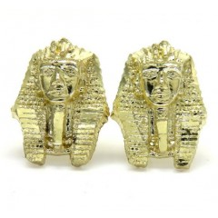 10k Yellow Gold Small King Tut Earrings
