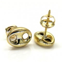 14k Yellow Gold Small 7mm Puffed Gucci Hollow Earrings