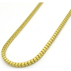 10k Yellow Gold Hollow Mirror Cube Link Chain 20-24