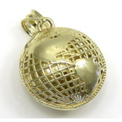 10k Yellow Gold Mimi 3-d Globe Charm