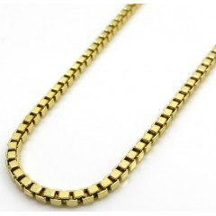 10k Yellow Gold Semi Hollow Box Link Chain 20-24 Inches 1.60mm