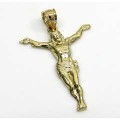 10k Yellow Gold Small Hanging Jesus Charm