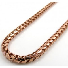 10k Rose Gold Solid Franco Link Chain 18-24 Inch 3mm