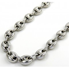 14k White Gold Gucci Link Chain 20-26 Inches 5.10mm