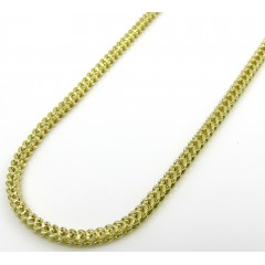 10k Yellow Gold Hollow Skinny Franco Link Chain 18-26 Inch 1.30mm