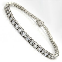 14k White Gold 2.50 Pointer Diamond Tennis Bracelet 7 Inch 1.50ct