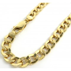 10k Yellow Gold Hollow Cuban Bracelet 8.25 Inch 7.5mm