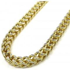 10k Yellow Gold Diamond Cut Franco Link Chain 18-26 Inch 4mm