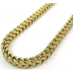 10k Yellow Gold Diamond Cut Franco Link Chain 18-26 Inch 5mm