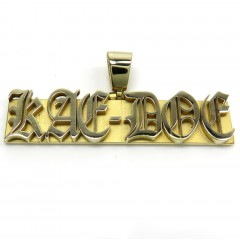 14k Yellow Gold 6 Letter Custom Name Plate Pendant