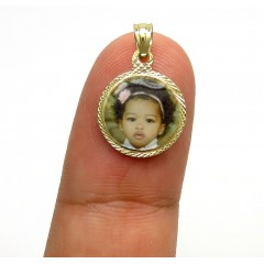 14k Yellow Gold Mini Picture Pendant