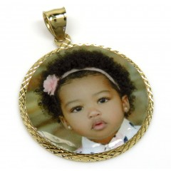 14k Yellow Gold Medium Picture Pendant
