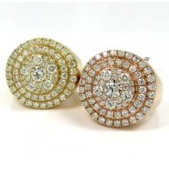 14K White Yellow Or Rose Gold Diamond Cake Ring 2.85CT