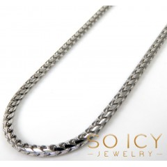 14k Solid White Gold Franco Chain 18-24 Inch 1.70mm