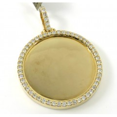 10k Yellow Gold Xl Diamond Picture Pendant 1.45ct