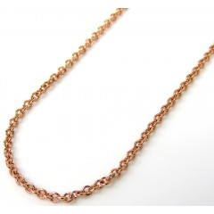 14k Rose Gold Solid Skinny Rolo Chain 16-20