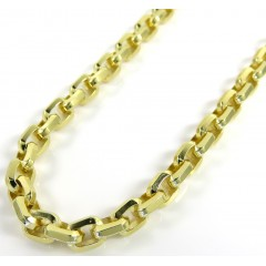 10k Yellow Gold Solid Beveled Edge Cable Chain 20-26 Inches 4.50mm