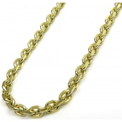 10k Yellow Gold Solid Cable Link Chain 22 Inch 2.80mm