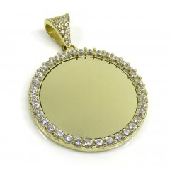 10k Yellow Gold Medium Cz Picture Pendant 1.20ct