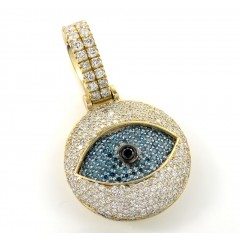 14k White Yellow Or Rose Gold Vs Diamond Evil Eye Pendant 2.50ct