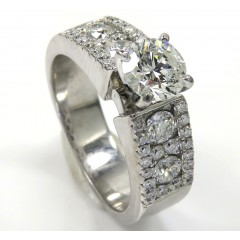 14k White Gold Diamond Engagement Ring 1.70ct