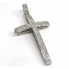 14k White Yellow Or Rose Gold 2x2 Solid Diamond Cross 3.00ct
