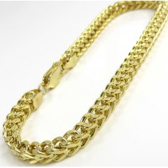 10K Yellow Gold Franco Bracelet 8.50 Inch 4.80mm