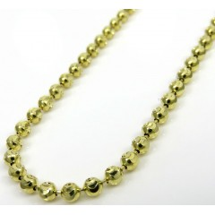 14k Yellow Gold Moon Cut Bead Chain 23